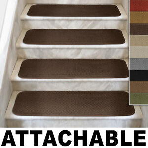 Carpet Stair Treads On Set Of 12 Attachable Many