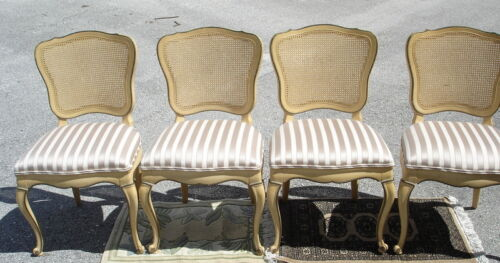 Set of 4 Antique Louis XVI Cane Back DINING CHAIRS Chair DIXON POWDERMAKER usa in Antiques, Furniture, Chairs | eBay