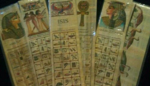 Set of 6 Egyptian papyrus bookmarks in Books, Accessories, Bookmarks | eBay
