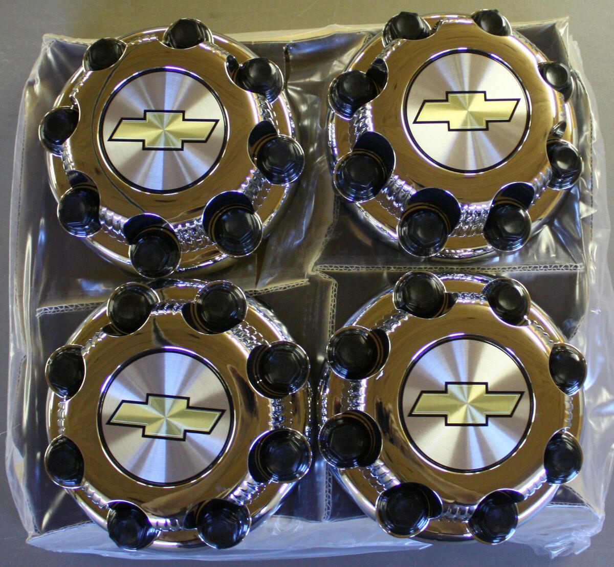 GM Chevy Silverado 8 Lug Center Caps 16 Aluminum 2500 Wheels