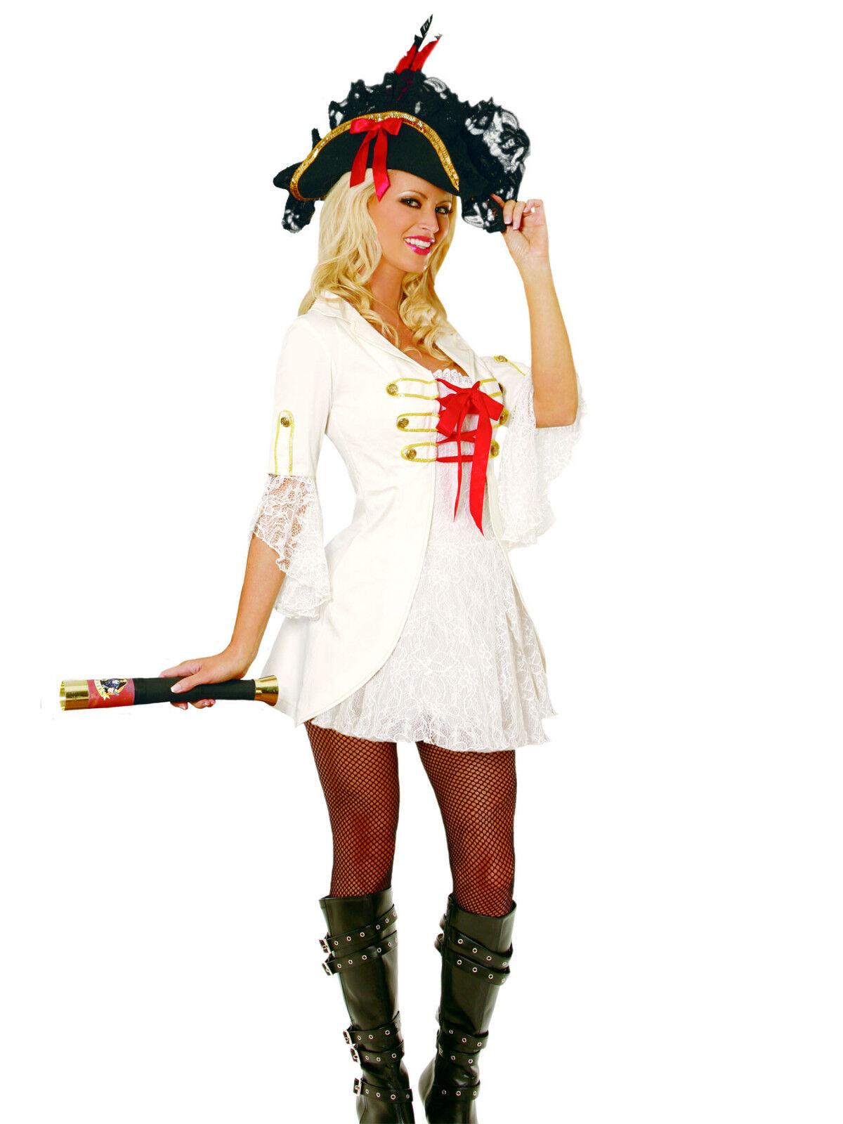 Halloween Costume Girls Petite Pirate Small or Medium New