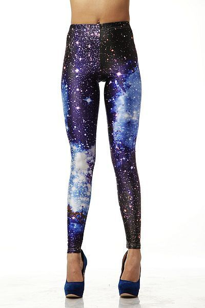 Sexy Ladies Blue Galaxy Printed Stretchy Tights Jeans Leggings Pants #68969