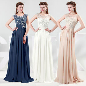 Vintage-Lace-Chiffon-Sexy-Long-Maxi-Evening-Prom-Gown-Bridesmaid-Wedding-Dresses