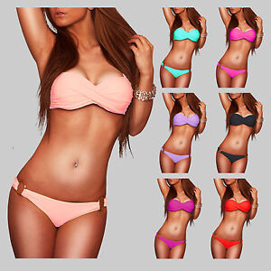 Sexy-Twist-Push-Up-Bandeau-Bikini-Gr-36-S-38-M