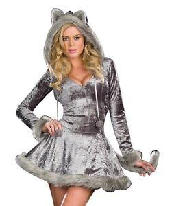 Sexy Womens Big Bad Wolf Adult Halloween Costume | eBay