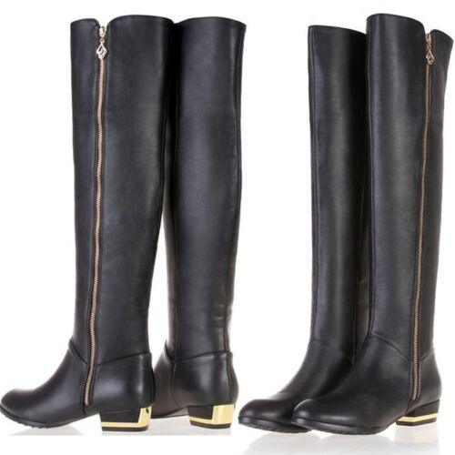 Genuine Leather over knee high boots