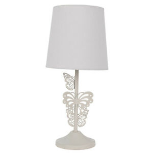 cream butterfly table lamp girls bedroom wedding home gift new ebay. Black Bedroom Furniture Sets. Home Design Ideas