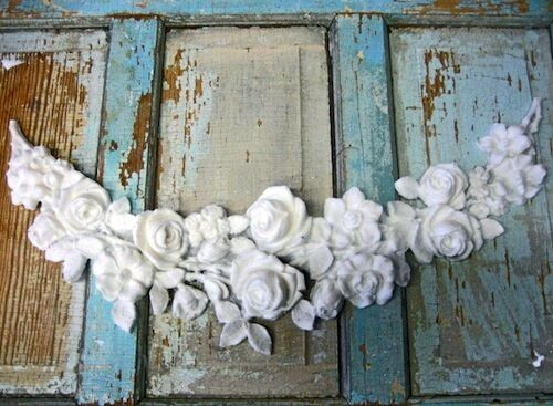 Applique Furniture Decoration Of Shabby N Chic Huge Rose Swag Furniture Appliques
