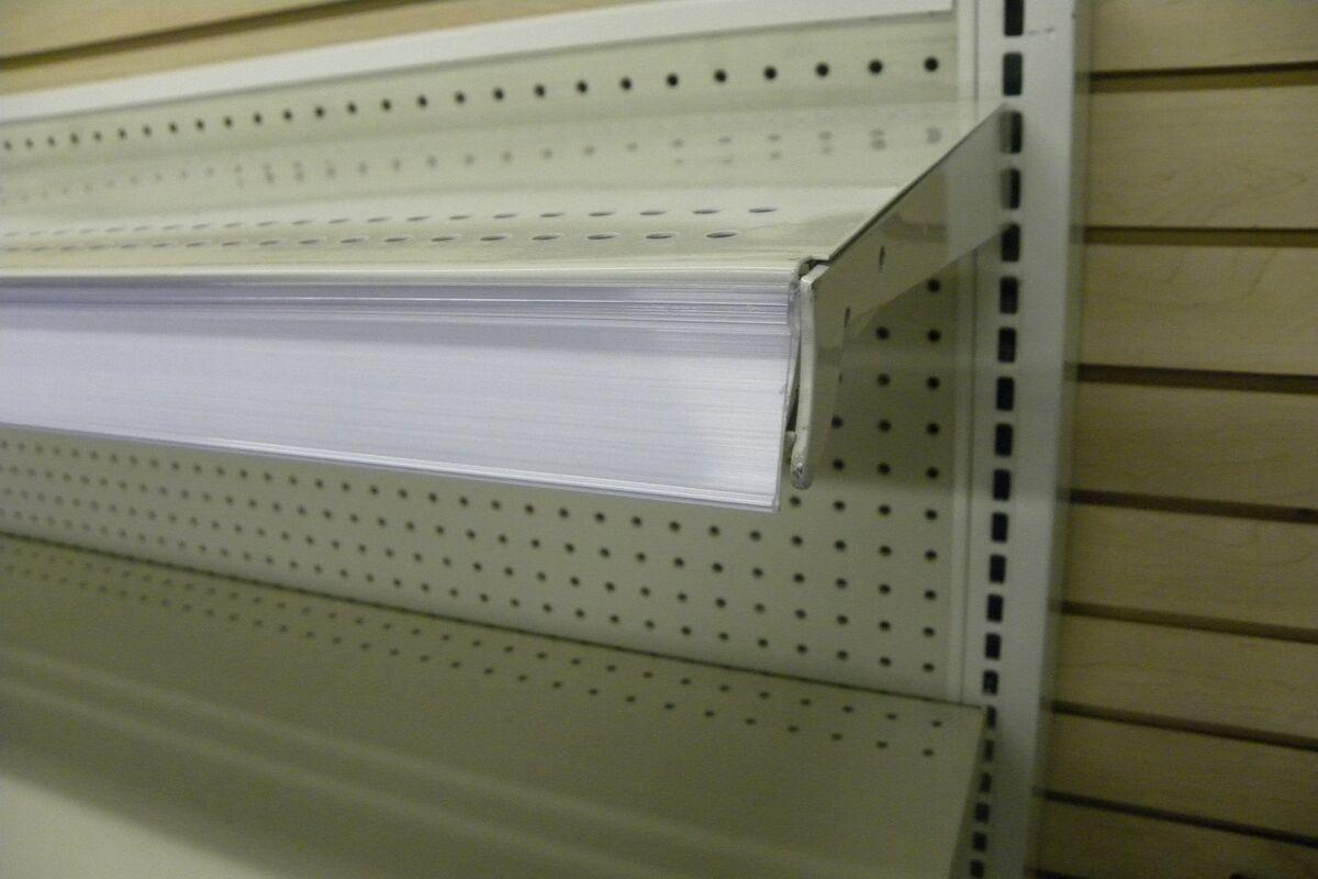 shelf label holder gondola lozier madix shelving price tag. Black Bedroom Furniture Sets. Home Design Ideas