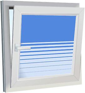 Sichtschutzfolie fenster folie mit streifen verlauf glasdekor bad k che b ro ebay - Fenster abdunkeln folie ...