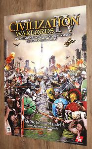 Sid Meier's Civilization IV Warlords rare Promo Poster 84x59.5cm - Deutschland - Sid Meier's Civilization IV Warlords rare Promo Poster 84x59.5cm - Deutschland