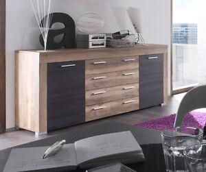 Details zu Sideboard Kommode Boom Nussbaum Satin Wohnzimmer Schrank ...