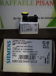 Siemens-Drucktaster-3SB3202-0AA31-0CC0-3SB3-202-0AA31-0CC0