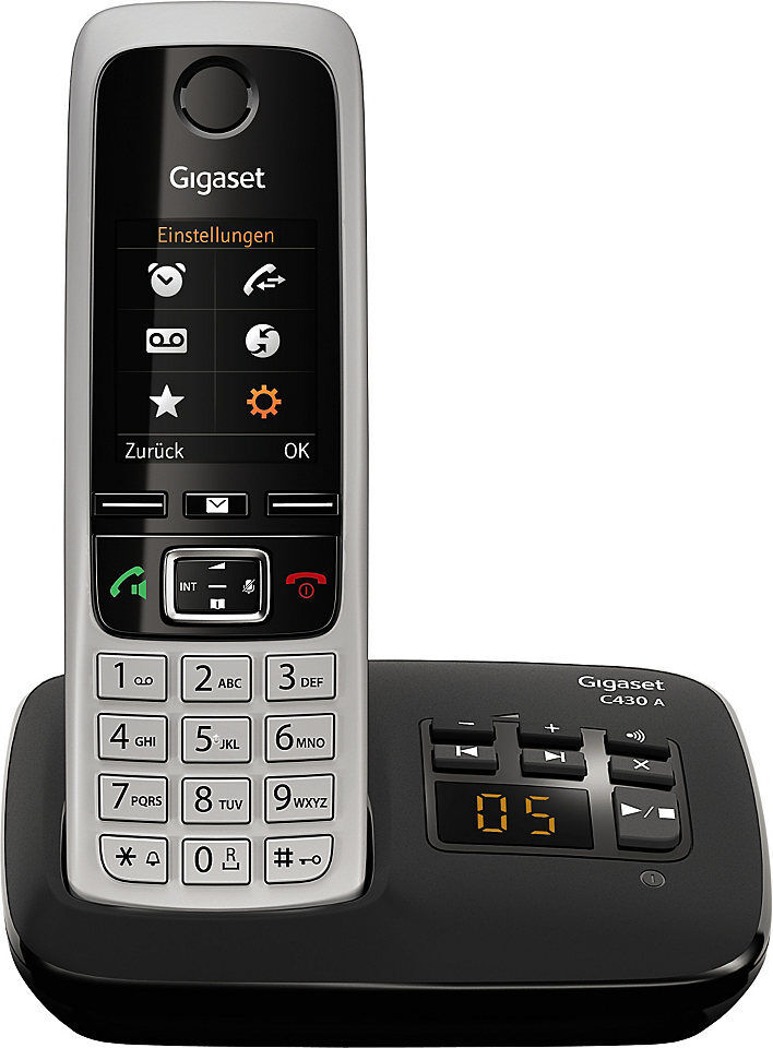 siemens gigaset c430a schnurloses telefon mit ab ebay. Black Bedroom Furniture Sets. Home Design Ideas