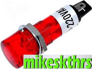 Sig1-230V-Rot-Signalleuchte-Glimmlampe-Kontrolllampe-Signallampe-Anzeigeleuchte