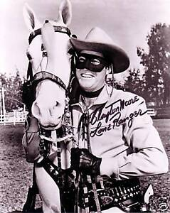 Signed Clayton Moore Lone Ranger 8X10 B&W RP Photo in Entertainment Memorabilia, Autographs-Reprints, Other | eBay