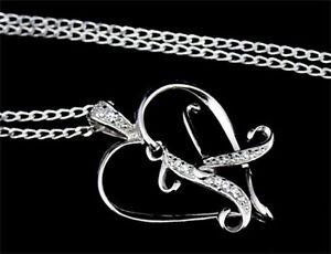 Silber-925-Herz-und-Buchstaben-mit-Swarovski-Zirconia-Silberkette-Auswahl