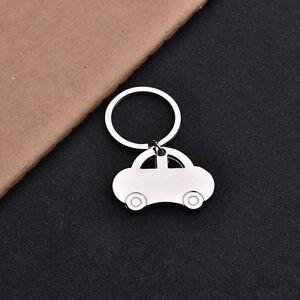 Silber-Farben-Auto-geformte-Schluesselanhaenger-kreatives-Keychain-Geschenk