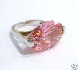 silberring mit gro em ovalem rosa stein 925 er silber ring. Black Bedroom Furniture Sets. Home Design Ideas