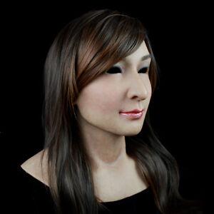 Female face mask realistic