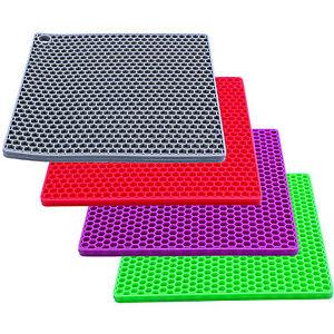 silikon topfuntersetzer topflappen topfschoner pfannenschoner hitzebest ndig ebay. Black Bedroom Furniture Sets. Home Design Ideas