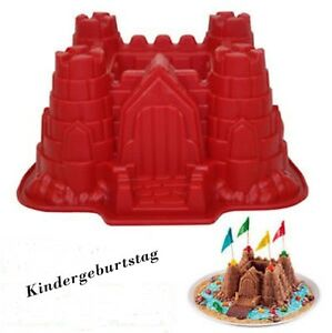 silikonform schloss backform motivbackform kindergeburtstag burg ebay. Black Bedroom Furniture Sets. Home Design Ideas