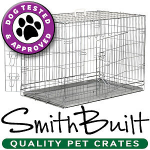 Silver Dog Cage Crate Kennel Pet Puppy Pen Stainless Steel Color Metal Tray Pan in Pet Supplies, Dog Supplies, Cages & Crates | eBay