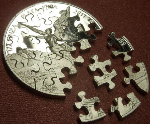Silver Libertad JIGSAW PUZZLE COINS Hand Cut in USA Proof BU 1oz Half 1/4 MEXICO in Crafts, Other Crafts | eBay