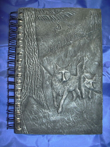 Silver Wolf Journal use as sketch book, guestbook, book of shadows totem animal in Books, Accessories, Blank Diaries & Journals | eBay