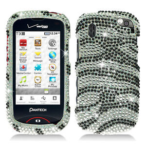 Silver-Zebra-Bling-Hard-Case-Cover-for-Verizon-Pantech-Hotshot-8992-Accessory