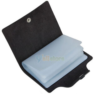 ... Simple Pocket PU Leather Credit Card Case Holder Storage Bag Black