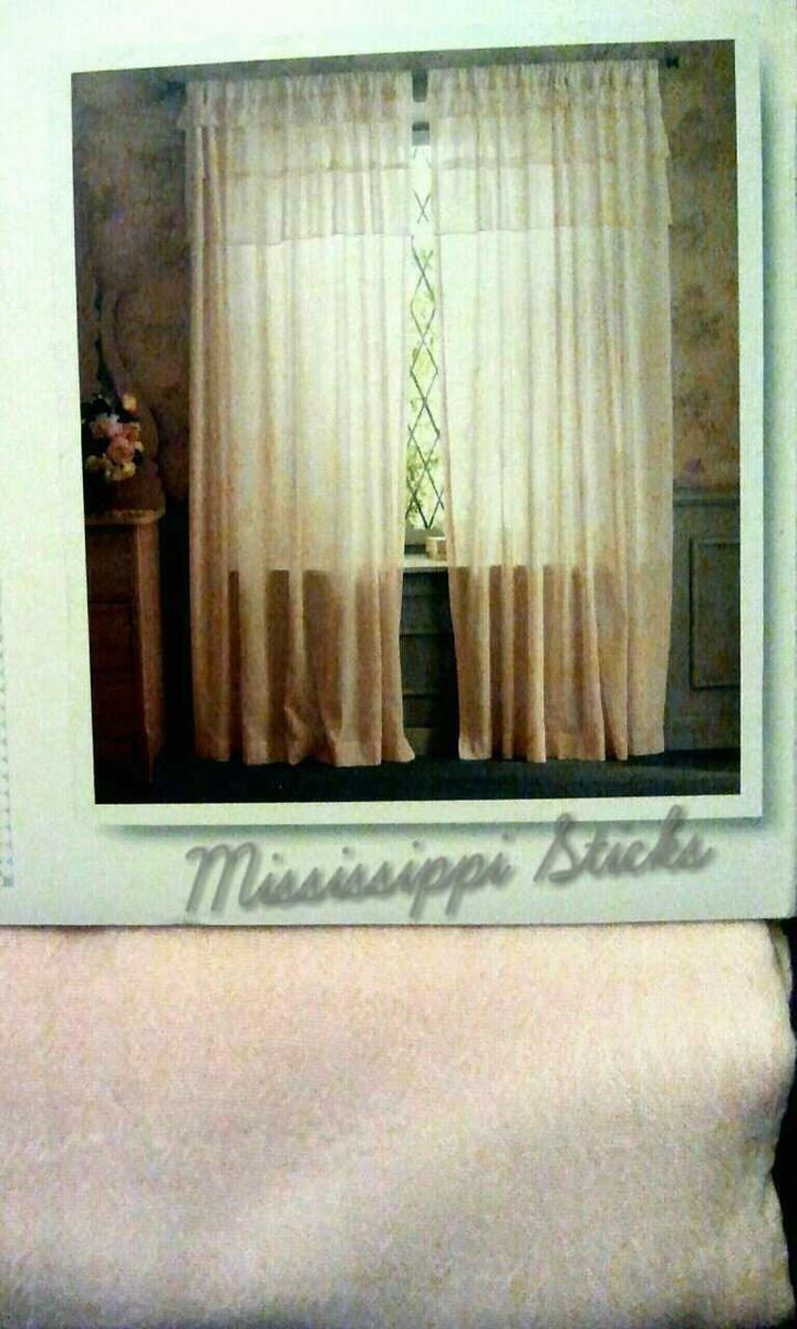 Simply Shabby Chic Tiered Bottom Top Ruffle Window Curtain Panel Pink Gauze