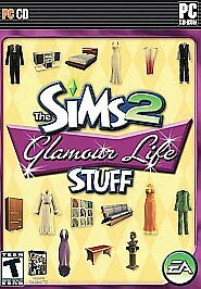 The Sims 2: Glamour Life Stuff  (PC, 2006) Compete with art, manuel and code