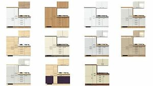 single k chenzeile 190 cm inkl k hlschrank sp le und auszugschrank ebay. Black Bedroom Furniture Sets. Home Design Ideas