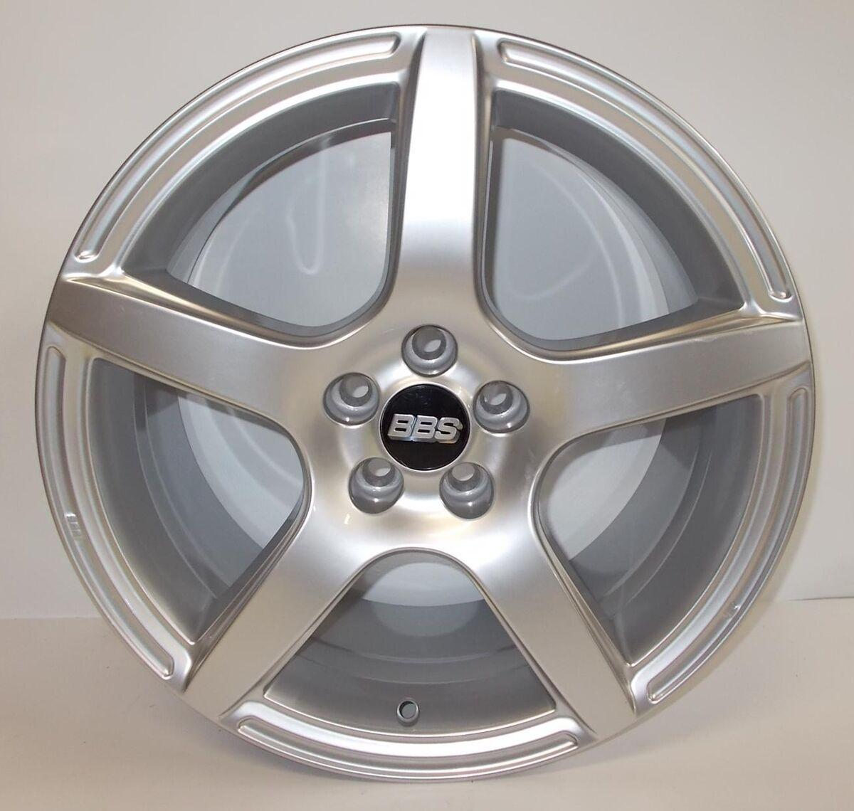 "Single New Sample BBs Wheel Rim 8"" x 17"" 8JX17H2 5x100 VW 5 Spoke w Center Cap"