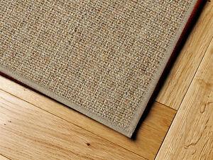 sisal teppich umkettelt beige 250x350cm 100 sisal ebay. Black Bedroom Furniture Sets. Home Design Ideas