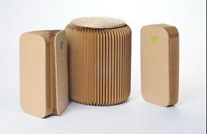 sitz akkordeon hocker mit auflage pappe papier rund 36 cm bis 300 kg belastbar ebay. Black Bedroom Furniture Sets. Home Design Ideas