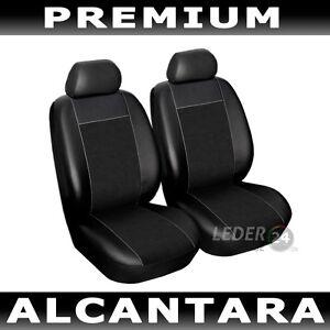 Sitzbezuege-Schonbezuege-Kunstleder-2X-Alcantara-schwarz-Fiat-Qubo