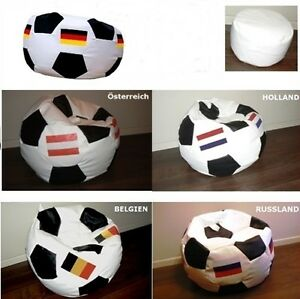 sitzsack flagge fu ball xxl 450 l mit hocker sitzkissen. Black Bedroom Furniture Sets. Home Design Ideas
