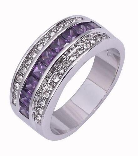 Size 7,8,9,10 Jewelry Man's AmethystReal 10KT White Gold Filled Ring Gift in Jewellery & Watches, Men's Jewellery, Rings | eBay
