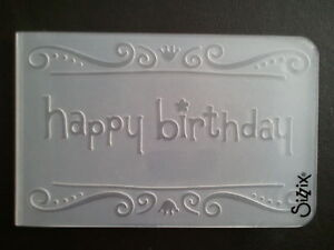 Sizzix-Medium-Embossing-Folder-HAPPY-BIRTHDAY-fits-Cuttlebug-Big-Shot-Wizard