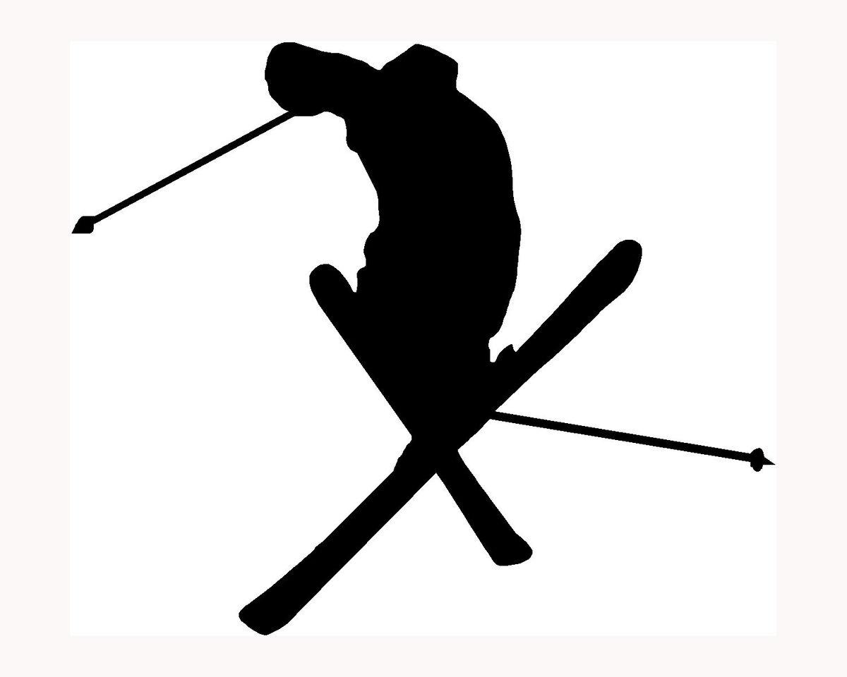 Skier Silhouette Sticker Ski Car Window Vinyl Decal Extreme Sports Snow Trick S3