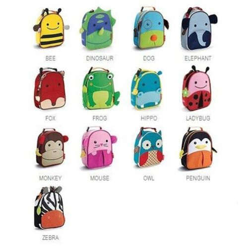 Skip Hop ZOO PACK KIDS LUNCH BAG Small Animals Boy Girl School FREE SHIP 1X in Baby, Other   eBay
