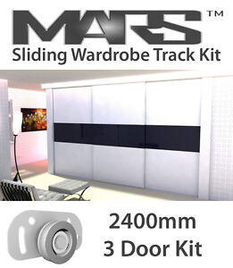 Sliding wardrobe track kit