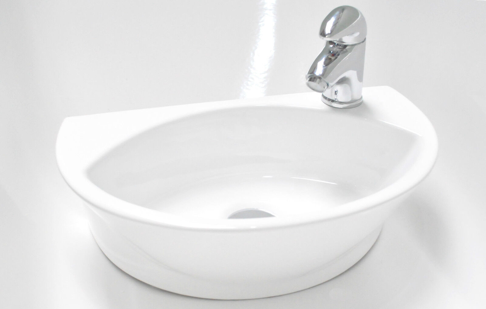 Compact Bathroom Sink : Small Compact Round D Shaped Cloakroom Basin Bathroom Sink Wall Hung ...