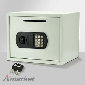 Small digital steel safe electronic security home office for Small safe box for home