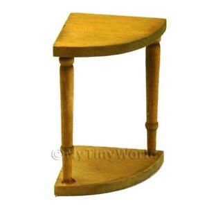 Small Wood Corner Table Dolls House Miniature Ac116 Ebay