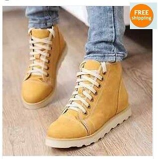 Snow Ladies Vintage PU Leather Flat Platform Lace Up Fur Warm Winter Ankle Boots in Clothing, Shoes & Accessories, Women's Shoes, Boots | eBay