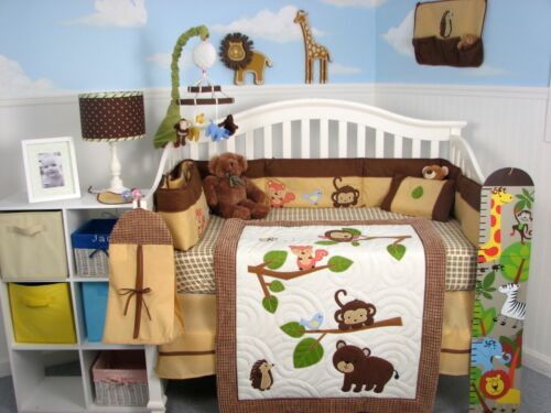 SoHo Forest Playground Baby Crib Nursery Bedding Set 13 pcs included Diaper Bag in Baby, Nursery Bedding, Crib Bedding | eBay