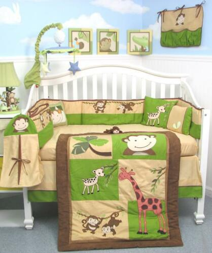 SoHo Monkey Savannah Baby Crib Nursery Bedding Set 13 pcs included Diaper Bag in Baby, Nursery Bedding, Crib Bedding | eBay